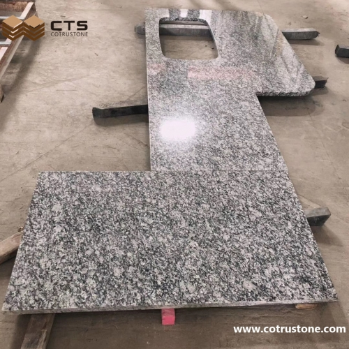 Spray White Granite Countertop